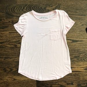 Seriously soft perfect crew t shirt light pink